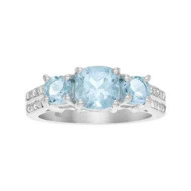 jcpenney.com | Genuine Blue Topaz 3-Stone Sterling Silver Ring