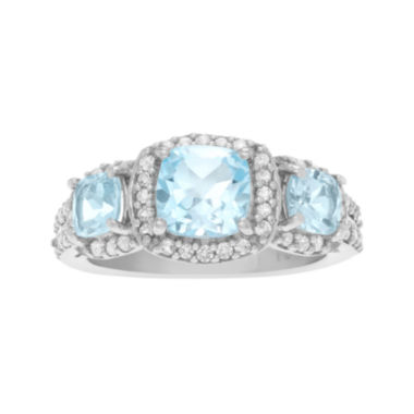 jcpenney.com | Genuine Blue & White Topaz Sterling Silver Ring