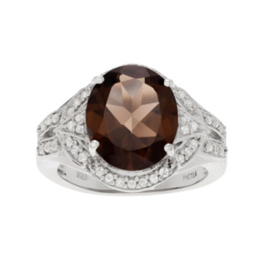 jcpenney.com | Genuine Smoky and White Topaz Sterling Silver Ring