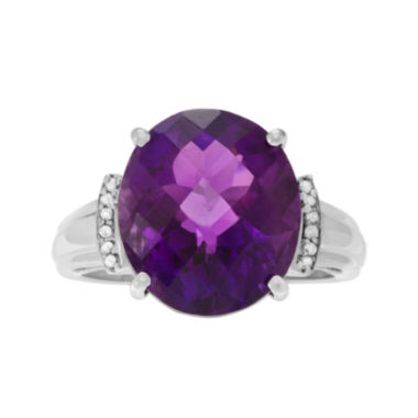 jcpenney.com | Genuine Amethyst and White Topaz Sterling Silver Ring