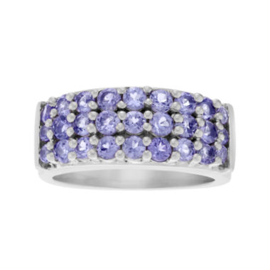 jcpenney.com | Genuine Purple Tanzanite 3-Row Sterling Silver Ring