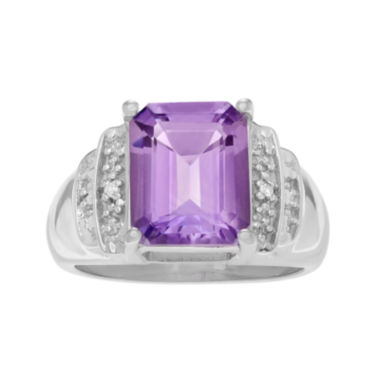 jcpenney.com | Genuine Purple Amethyst & Yellow Topaz Sterling Silver Ring