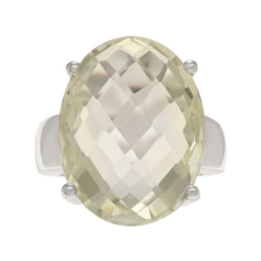 jcpenney.com | Genuine Green Amethyst Sterling Silver Ring