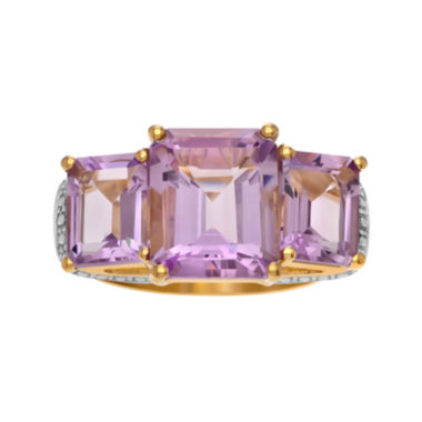 jcpenney.com | Genuine Pink Amethyst 14K Gold Over Silver Ring