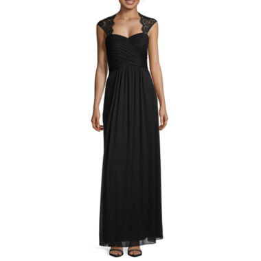 jcpenney.com | Scarlett Sleeveless Lace-Trim Long Gown - Tall