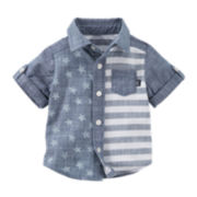 OshKosh B'Gosh® Short-Sleeve Woven Chambray Shirt - Baby Boys newborn-24m