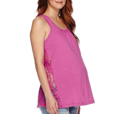 jcpenney.com | Maternity Crochet Lace Tank Top-Plus