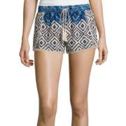 Vanilla Star® Crinkle Gauze Print Shorts
