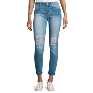 jcpenney.com | Indigo Rein Betran Rolled Cuff Destructed Skinny Jeans
