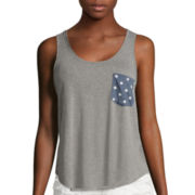 Americana Pocket Tank Top - Juniors