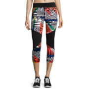 City Streets® Colorblock Performance Cropped Leggings