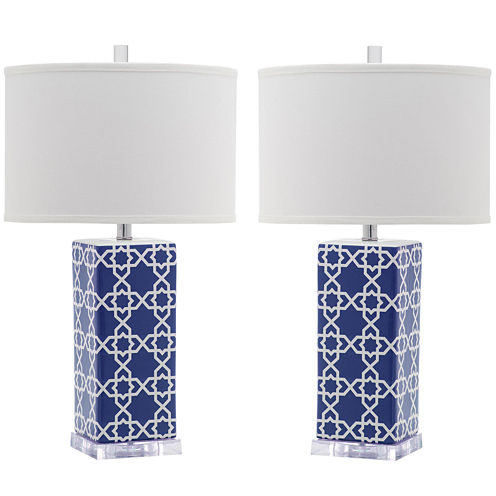 Safavieh Isolde Quatrefoil Table Lamp- Set of 2