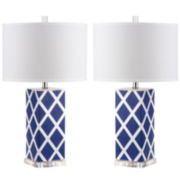 Ira Garden Lattice Table Lamp (Set Of 2)