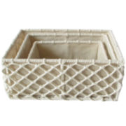 Baum-Essex Set of 3 Hand-Knotted Rope Storage Baskets