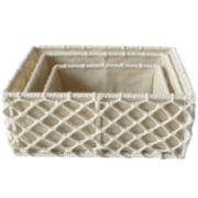 Baum-Essex Set of 3 Hand-Knotted Rope Storage Baskets