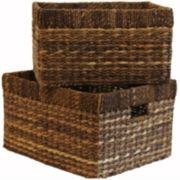Baum-Essex Set of Two Tall Storage Baskets