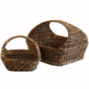 Baum-Essex Set of Two Loop-Handle Storage Baskets