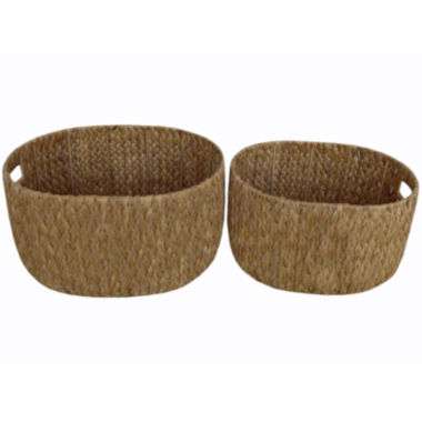 jcpenney.com | Baum Set of 2 Oval Water Hyacinth Baskets
