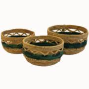 Baum Set of 3 Aspire Colored Storage Baskets