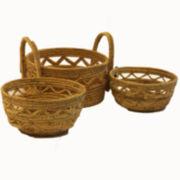 Baum Set of 3 Aspire Baskets with Ear Handles