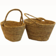 Baum-Essex Set of 2 Oval Tapered Harvest Baskets
