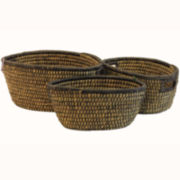 Baum-Essex Set of Three Oval River Grass Baskets
