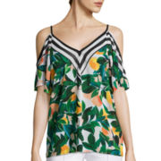 nicole by Nicole Miller® Short-Sleeve Open-Shoulder Top