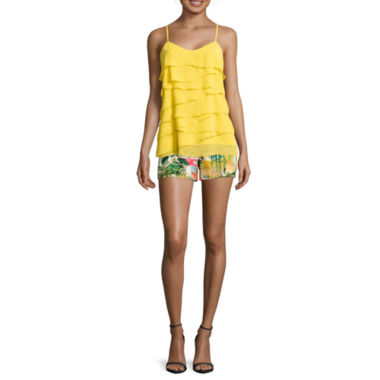 jcpenney.com | nicole by Nicole Miller® Tiered Ruffle Cami or Woven Stretch Shorts