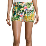 nicole by Nicole Miller® Woven Stretch Shorts