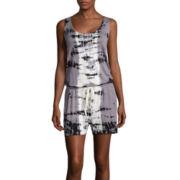 BELLE + SKY™ Sleeveless Tie-Dye Romper