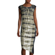 BELLE + SKY™ Sleeveless Asymmetrical Tie-Dye Dress