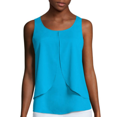 jcpenney.com | Bisou Bisou® Tiered Draped Top