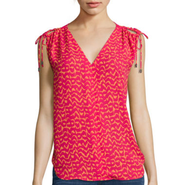 jcpenney.com | a.n.a® Sleeveless Cold-Shoulder Top - Tall