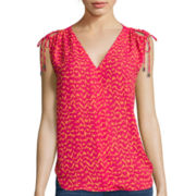 a.n.a® Sleeveless Cold-Shoulder Top - Tall