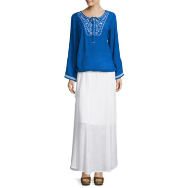 jcpenney.com | Alyx® Embroidered Solid Gauze Top or Gauze Belted Skirt