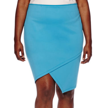jcpenney.com | Bisou Bisou® Asymmetrical Pencil Skirt - Plus