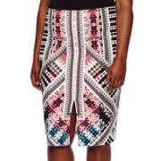 Bisou Bisou® Slit-Front Pencil Skirt - Plus
