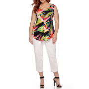 Worthington® Sleeveless Blouse or Ankle Pants - Plus