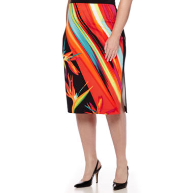 jcpenney.com | Worthington® Simple Side Slit Pencil Skirt - Plus