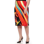 Worthington® Simple Side Slit Pencil Skirt - Plus