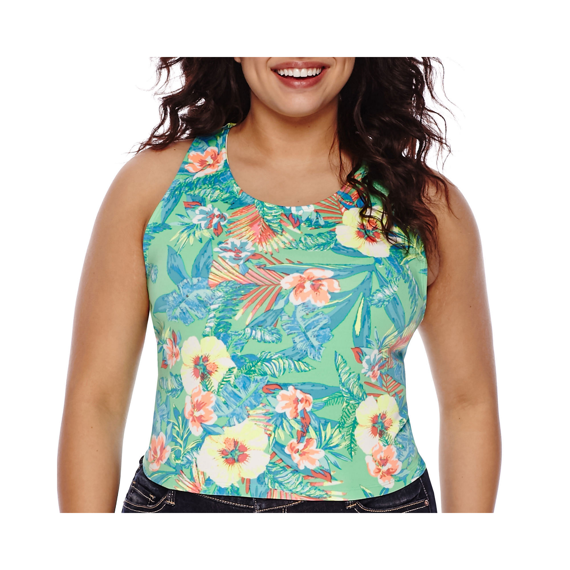Decree Scuba Bodycon Tank Top - Juniors Plus plus size,  plus size fashion plus size appare