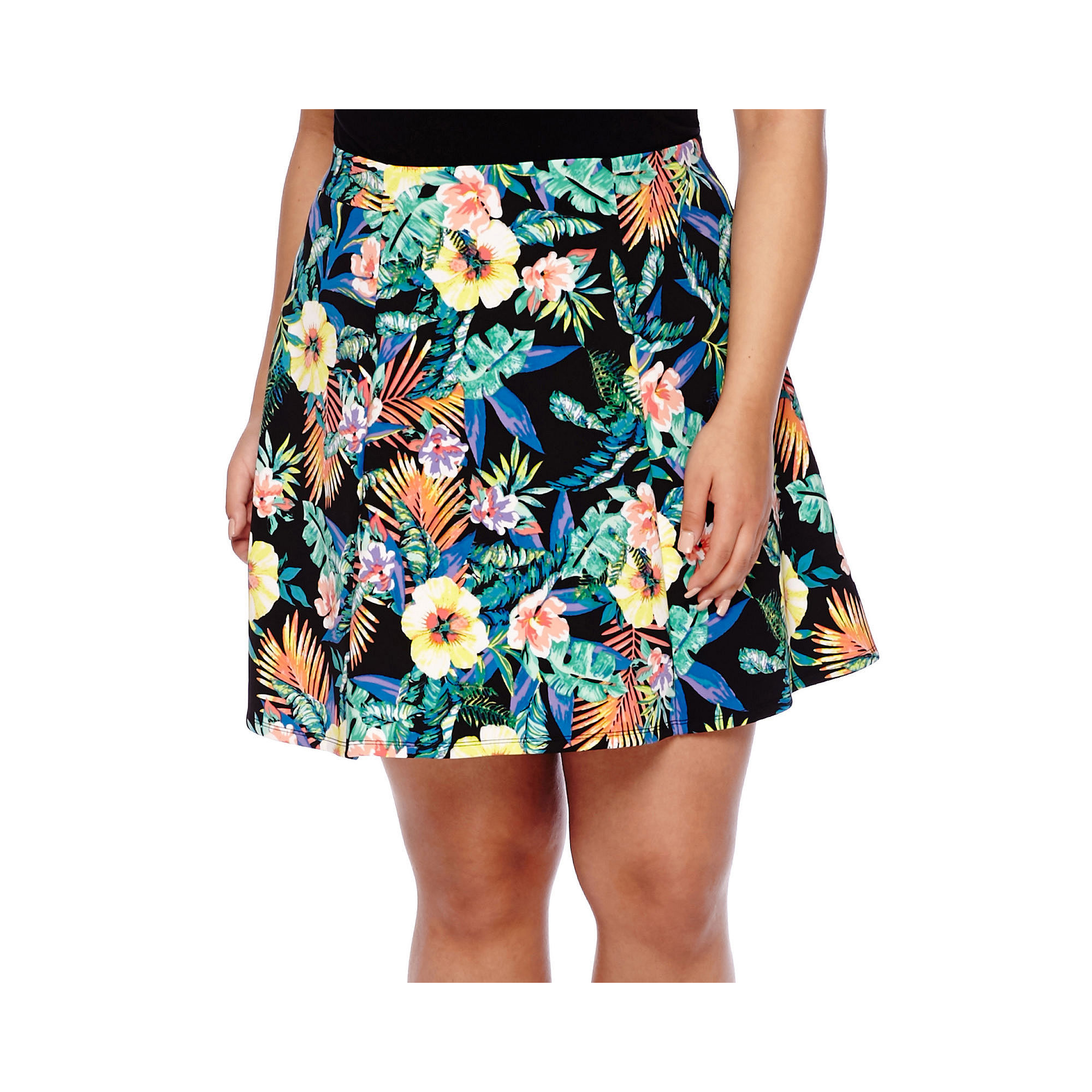 Decree Scuba Skater Skirt - Juniors Plus plus size,  plus size fashion plus size appare