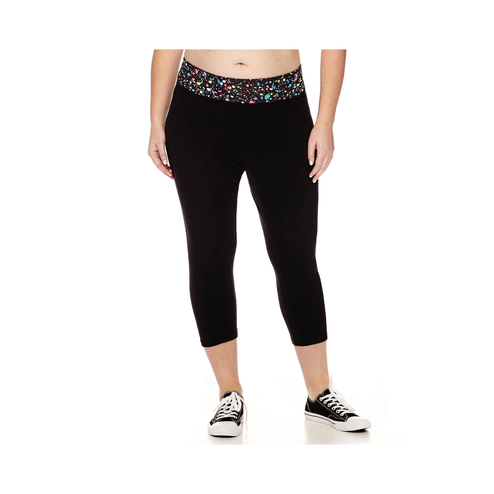 City Streets Yoga Cropped Leggings - Juniors Plus plus size,  plus size fashion plus size appare