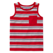 Okie Dokie® Stripe Tank Top - Toddler Boys 2t-5t