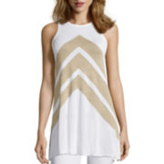 Worthington® Sleeveless Sharkbite Tunic