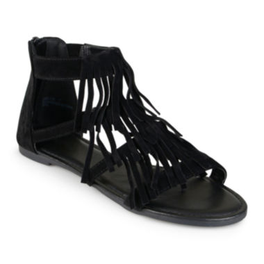 jcpenney.com | Journee Collection Zana Fringe Gladiator Sandals