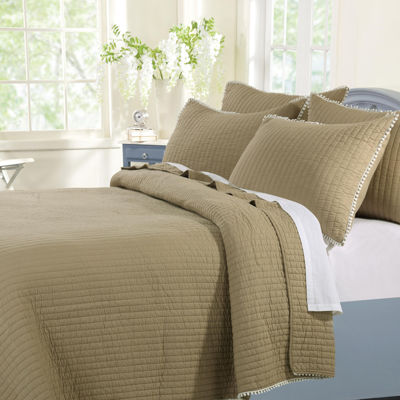 greenland home fashions pom pom quilt set - Greenland Home Fashions