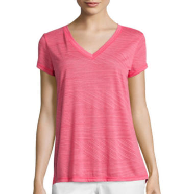 jcpenney.com | Liz Claiborne® Short-Sleeve Burnout Swing Tee