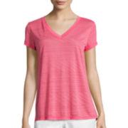 Liz Claiborne® Short-Sleeve Burnout Swing Tee
