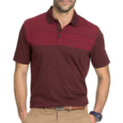 Van Heusen® Short-Sleeve Fancy Stripe Polo